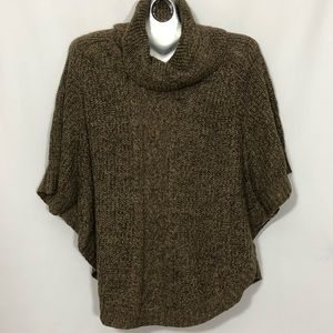 KAREN SCOTT cowl turtleneck batwing sleeve sweater